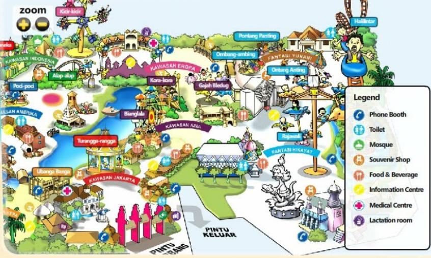 peta wahana dufan